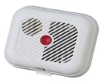 A common example of a battery operated smoke alarm.
