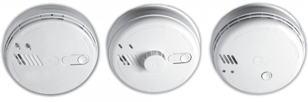 Your fitted mains operated smoke/heat alarms (Aico Ei Series)should look like these.